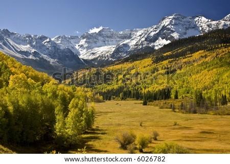 Dallas Creek in Autumn - stock photo