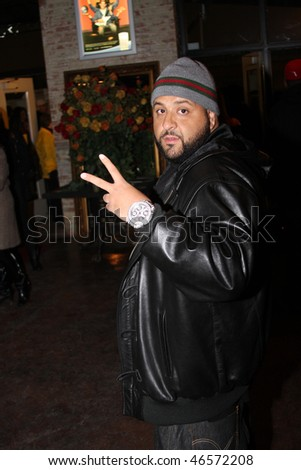 DALLAS - FEBRUARY 12: After attending 'Diddy Does Dallas' Producer/Rapper DJ Khaled departs the Palladium Ballroom during NBA All Star Weekend February 12, 2010 in Dallas, Texas. - stock photo