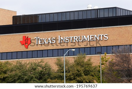 DALLAS � MARCH 14: The Texas Instruments world headquarters located in Dallas, Texas on March 14, 2014. Texas Instruments is an American company that designs and manufactures semiconductors.