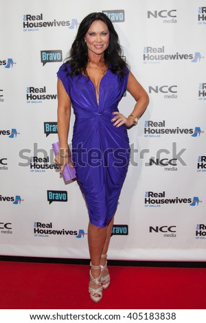 DALLAS, NY-APR 5: TV personality LeeAnne Locken attends The Real Housewives of Dallas premiere party at The Chandelier Room on April 5, 2016 in Dallas, Texas. - stock photo