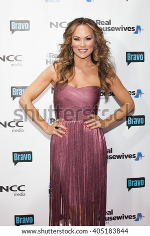 DALLAS, NY-APR 5: TV personality Tiffany Hendra attends The Real Housewives of Dallas premiere party at The Chandelier Room on April 5, 2016 in Dallas, Texas. - stock photo
