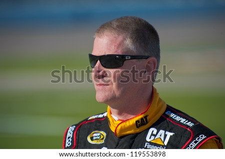 DALLAS, TX - NOVEMBER 02: Jeff Burton at the Nascar Sprint Cup Qualifying at Texas Motorspeedway in Dallas, TX on November 02, 2012
