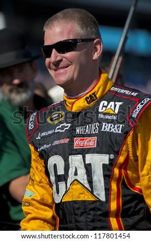 DALLAS, TX - NOVEMBER 04: Jeff Burton walks to the driver introduction at the Nascar Sprint Cup AAA Texas 500 at Texas Motorspeedway in Dallas, TX on November 04, 2012