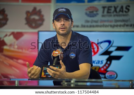DALLAS, TX - NOVEMBER 02:Jimmie Johnson wins the Coors Light Pole at