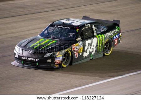 DALLAS, TX - NOVEMBER 03: Kyle Busch at the Nascar Nationwide Race at Texas Motorspeedway in Dallas, TX on November 03, 2012 - stock photo