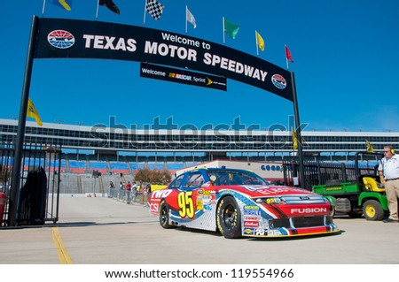DALLAS, TX - NOVEMBER 02: Nascar Sprint Cup Qualifying at Texas Motorspeedway in Dallas, TX on November 02, 2012