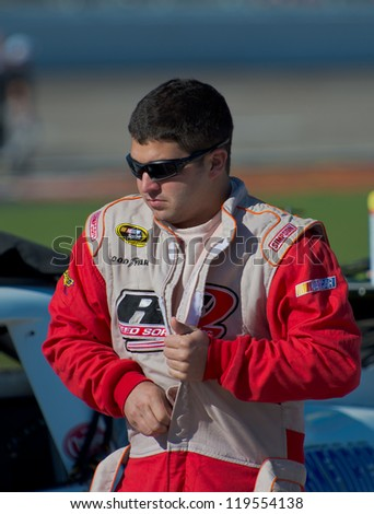 DALLAS, TX - NOVEMBER 02: Reed Sorenson at the Nascar Sprint Cup Qualifying at Texas Motorspeedway in Dallas, TX on November 02,