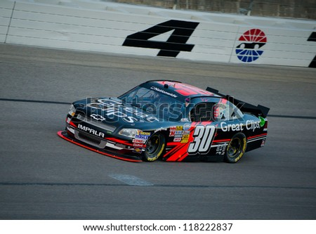 DALLAS, TX - NOVEMBER 02: Ryan Newman at the Nascar Nationwidet Cup Practice at Texas Motorspeedway in Dallas, TX on November 02, 2012