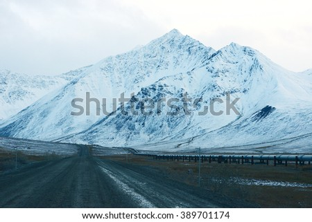 dalton highway in alaska at north slope