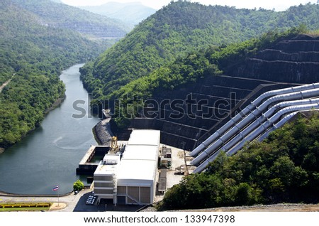 Dam in Thailand. - stock photo