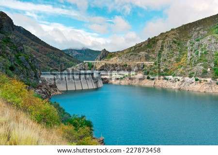 Dam of the Power Station in the Mountain of Cantabria, Spain
