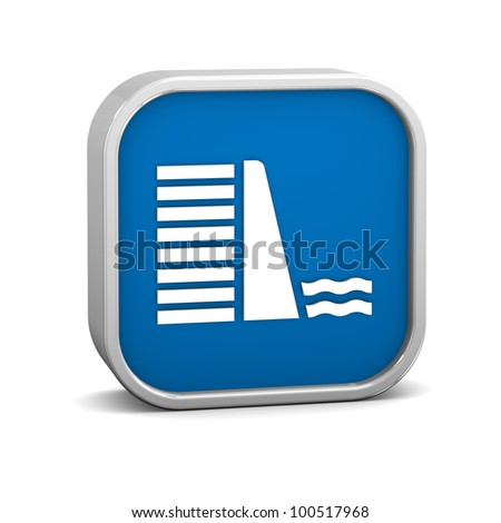 Dam sign on a white background. Part of a series. - stock photo