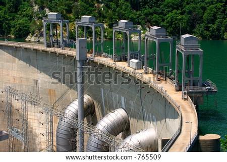 Dam. Smith Mountain Lake, VA - stock photo