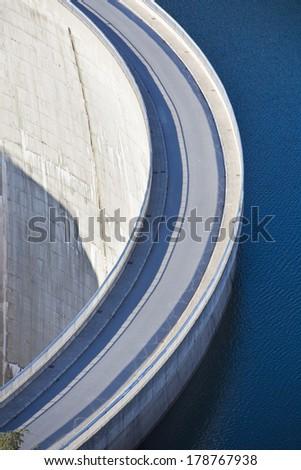 Dam wall - stock photo