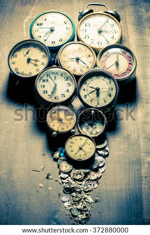 Damaged clocks and the parts