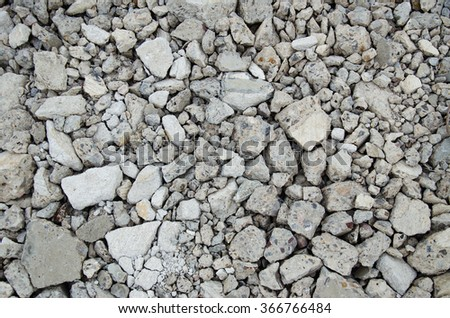 damaged cracked concrete floor in construction site - stock photo