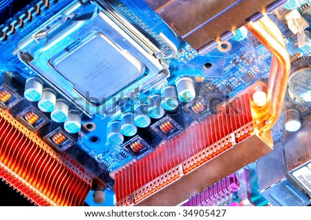 damaged electronic pc component
