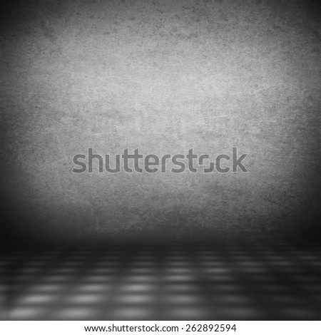 damaged old wall background texture interior background abstract wall grid texture in black and white - stock photo