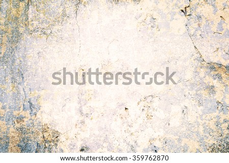 damaged wall texture weathered stone and concrete wall background - stock photo