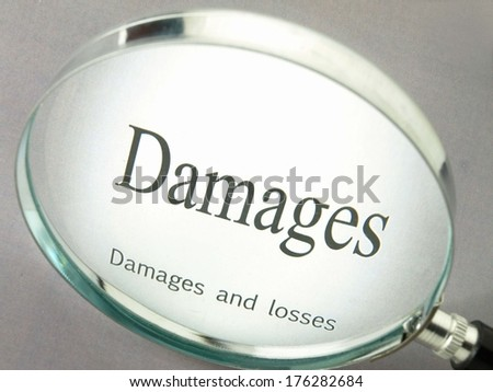 Damages and losses - stock photo