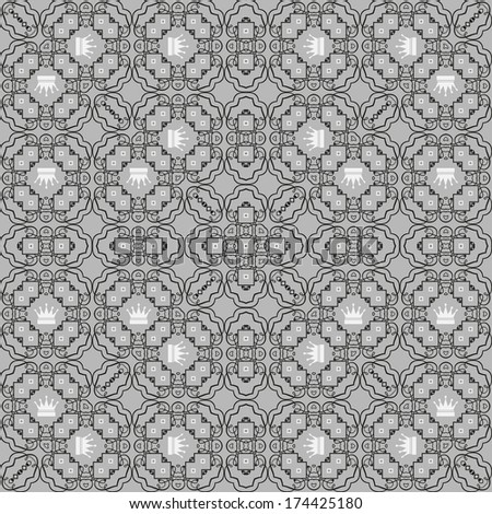 damask decorative wallpaper for walls vintage seamless patterns abstract background - stock photo