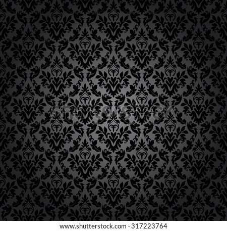 Damask seamless vector pattern. Raster illustration.