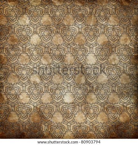 Damask wallpaper (classical ornament)