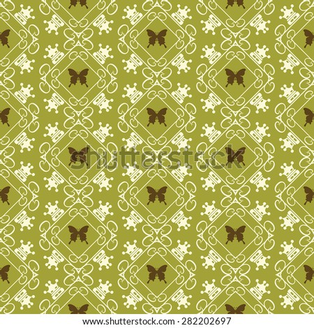 Damask wallpaper seamless pattern background in retro style for your design