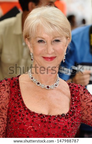 Dame Helen Mirren arriving for the UK Premiere of Red 2, at Empire Leicester Square, London. 22/07/2013