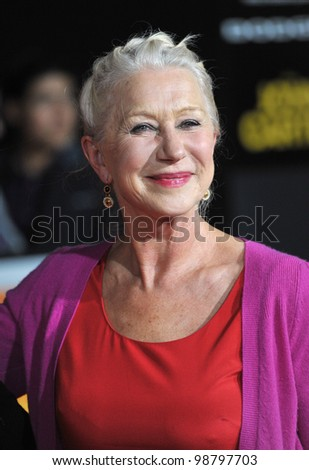 "Dame Helen Mirren at the world premiere of ""John Carter"" at the Regal Cinemas L.A. Live. February 22, 2012  Los Angeles, CA Picture: Paul Smith / Featureflash"