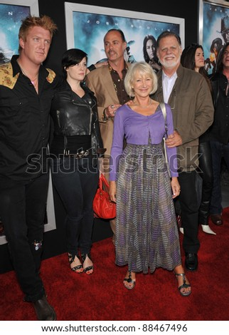 "Dame Helen Mirren & husband Taylor Hackford & family at the Los Angeles premiere of ""Jonah Hex"" at the Cinerama Dome, Hollywood. June 17, 2010  Los Angeles, CA Picture: Paul Smith / Featureflash"