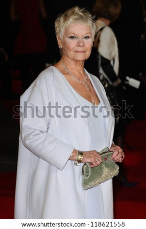 Dame Judi Dench arriving for the Royal World Premiere of 'Skyfall' at Royal Albert Hall, London. 23/10/2012 Picture by: Steve Vas - stock photo