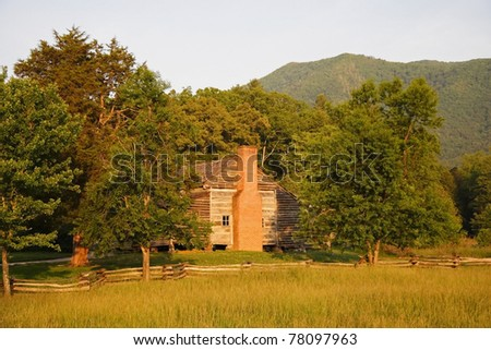 Dan Lawson Place, Great Smokey Mountains National Park - stock photo