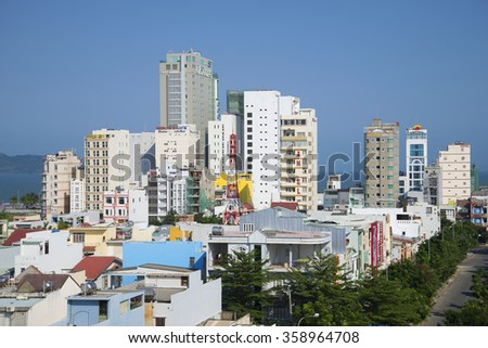 DANANG, VIETNAM - JANUARY 05, 2016: Modern Da Nang Sunny day