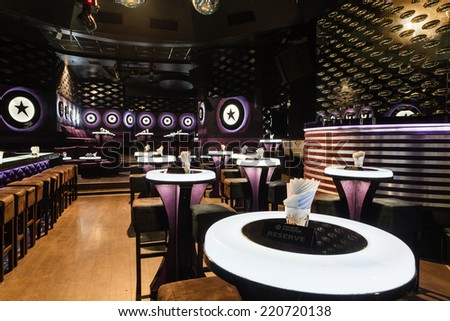 Dance club interior.  - stock photo