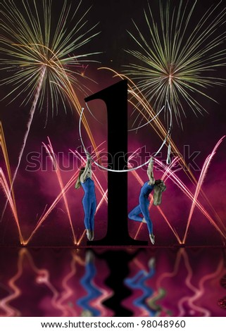 Dance Fireworks - stock photo