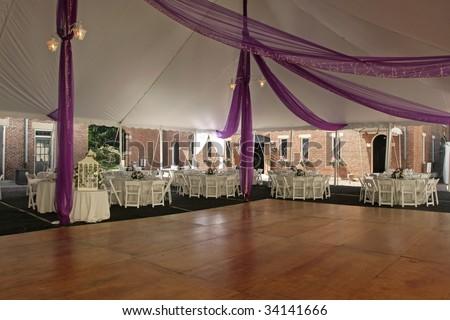 Dance Floor under tent for outdoor wedding. & Dance Floor Under Tent Outdoor Wedding Stock Photo 34141666 ...