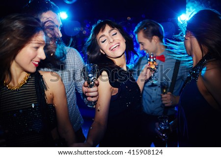 Dance in the night - stock photo