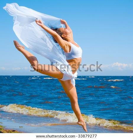 Dance like goddess - stock photo