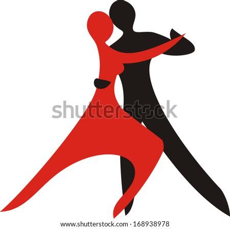 Dance sign illustration - stock photo