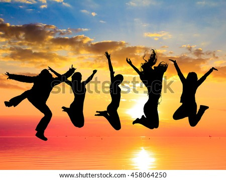Dance the Night Away Jumping over Sunset