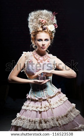Dancer girl with floral perfume