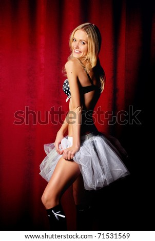 dancer on stage - stock photo