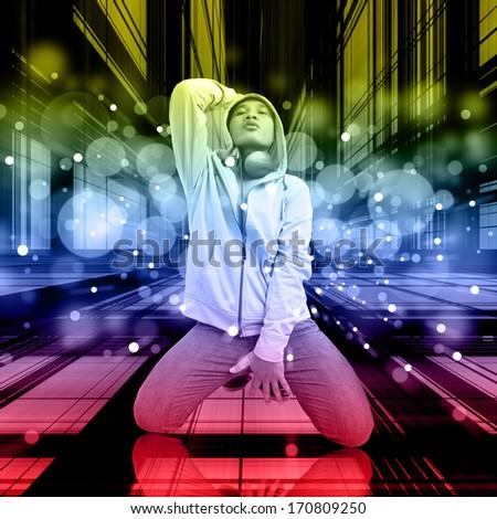 Dancer On The Dance Floor - stock photo