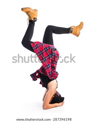 Dancer posing - stock photo
