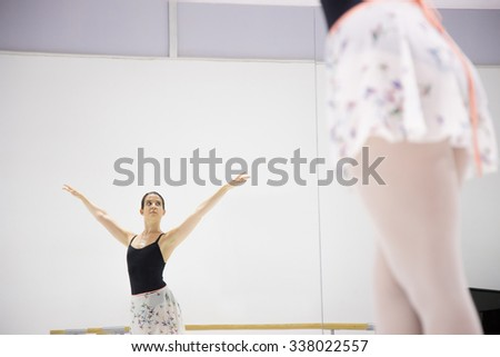 dancer practicing in the gym
