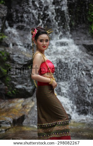 Dancer Thailand Concept with nature.