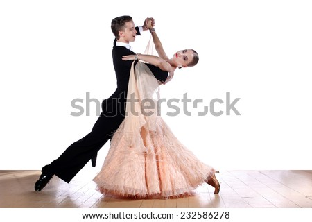 dancers in ballroom - stock photo