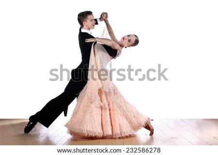 dancers in ballroom - stock photo