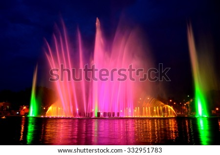 Dancing and singing fountain